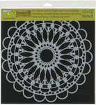 """Scalloped Mandala - Crafter's Workshop Template 12""""X12"""""""