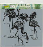 """Flamingos - Crafter's Workshop Template 12""""X12"""""""