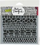 "Modern Lace - Crafter's Workshop Template 6""X6"""