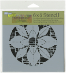 "Flower Grid - Crafter's Workshop Template 6""X6"""
