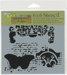 """Regal Butterfly - Crafter's Workshop Template 6""""X6"""""""