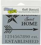"""Home Sweet - Crafter's Workshop Template 6""""X6"""""""