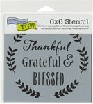 "Thankful - Crafter's Workshop Template 6""X6"""