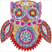 "Owl - Design Works/Zendazzle Stamped Needleart Kit 10""X10"""