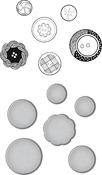 Vintage Buttons - Spellbinders Stamp & Die Set