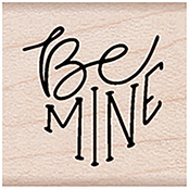 """Be Mine Message - Hero Arts Mounted Rubber Stamp 1.5""""X1"""""""