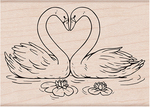 "Loving Swans - Hero Arts Mounted Rubber Stamp 3.25""X2.38"""