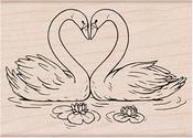 "Loving Swans - Hero Arts Mounted Rubber Stamp 3.25""X2.38"""