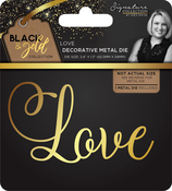 Love - Sara Davies Signature Black & Gold Metal Die