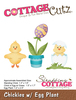 """Chickies W/Egg Plant 1.2"""" To 2.5"""" - CottageCutz Die"""