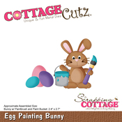 "Egg Painting Bunny 2.4""X2.7"" - CottageCutz Die"
