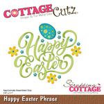 """Happy Easter Phrase 3.8""""X3.1"""" - CottageCutz Die"""