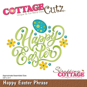 "Happy Easter Phrase 3.8""X3.1"" - CottageCutz Die"