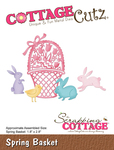 "Spring Basket 1.8""X2.8"" - CottageCutz Die"