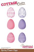 """Spring Flower Eggs 1.8""""X2.4"""" - CottageCutz Die"""
