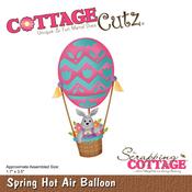 """Spring Hot Air Balloon 1.7""""X3.5"""" - CottageCutz Die"""
