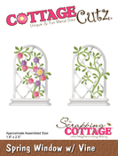 "Spring Window W/Vine 1.8""X2.5"" - CottageCutz Die"