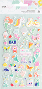 Mini Icons - Dear Lizzy Stay Colorful Puffy Stickers