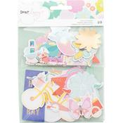 W/Gold Foil Accents - Dear Lizzy Stay Colorful Ephemera Cardstock Die-Cuts 40/Pkg
