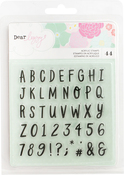 Alpha - Dear Lizzy Stay Colorful Clear Acrylic Stamps