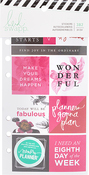 Fresh Start, Elegant - Heidi Swapp Memory Planner Cardstock Stickers