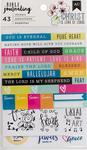 "Trendy - American Crafts Bible Journaling Stickers 4""X7"" 3/Pkg"
