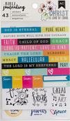"Trendy - American Crafts Bible Journaling Stickers 4""X7"" 3/Pkg"