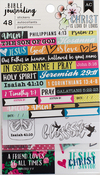 "Edgy - American Crafts Bible Journaling Stickers 4""X7"" 3/Pkg"