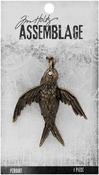 Bird - Tim Holtz Assemblage Pendant
