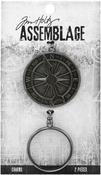 Compass Monocle - Tim Holtz Assemblage Charms 2/Pkg