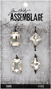 Faceted Gems - Tim Holtz Assemblage Charms 4/Pkg