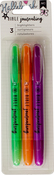 Green, Orange, Purple - American Crafts Bible Journaling Highlighters 3/Pkg