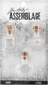 Glass Vials - Tim Holtz Assemblage Charms 3/Pkg