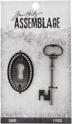 Keyhole - Tim Holtz Assemblage Charms 2/Pkg