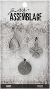 Lucky - Tim Holtz Assemblage Charms 3/Pkg