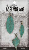 Patina Leaves - Tim Holtz Assemblage Charms 3/Pkg