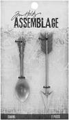 Arrow/Spoon - Tim Holtz Assemblage Charms 2/Pkg