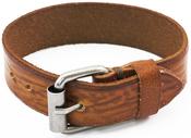 Brown W/Buckle Enclosure - Tim Holtz Assemblage Cuff Bracelet