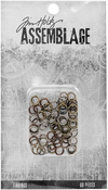 Jump Rings Assorted Sizes - Tim Holtz Assemblage Findings 60/Pkg