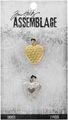Hearts - Tim Holtz Assemblage Lockets 2/Pkg