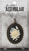 Rose Cameo - Tim Holtz Assemblage Pendant
