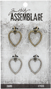 Heart Links - Tim Holtz Assemblage Charms 4/Pkg