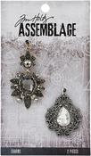 Baroqued Diamonds - Tim Holtz Assemblage Charms 2/Pkg