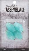 Acrylic Seaglass - Tim Holtz Assemblage Links 4/Pkg