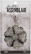 Ruffled Floral - Tim Holtz Assemblage Pendant