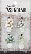 Beaded Clusters - Tim Holtz Assemblage Charms 4/Pkg