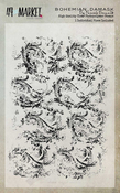 """Bohemian Damask - 49 And Market Clear Stamps 4""""X6"""""""