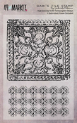 """Gabi's Tile - 49 And Market Clear Stamps 4""""X6"""""""