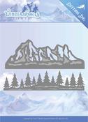 Mountain Border - Find It Trading Jeanine's Art Wintersports Die