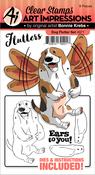 Dog - Art Impressions Flutters Stamp & Die Set